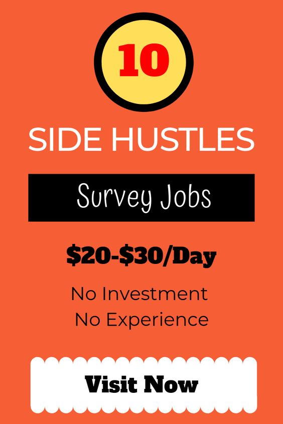 10 Side Hustle Paid Survey Jobs