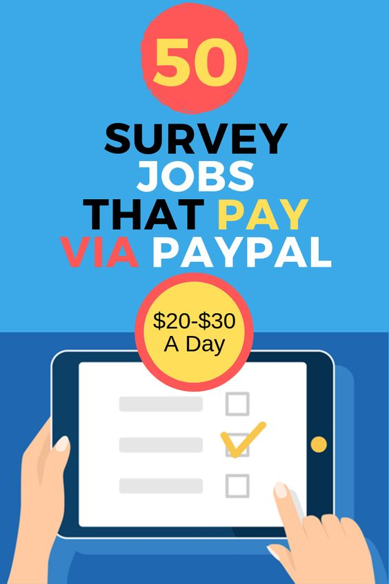 50 Survey Jobs That Pay Cash Via PayPal