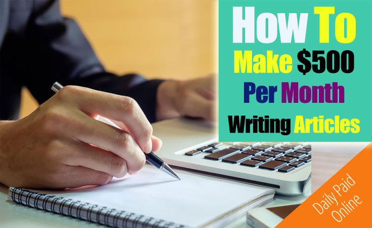 How to Get Paid to Write Articles Online