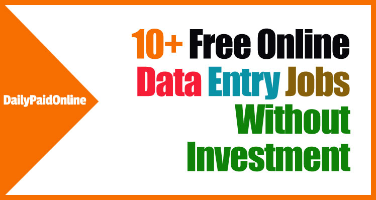Online Data Entry Jobs Without Investment & Registration ...
