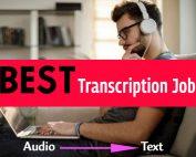 transcription job