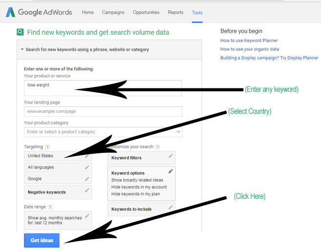 Google Keyword Planner Tutorial-1