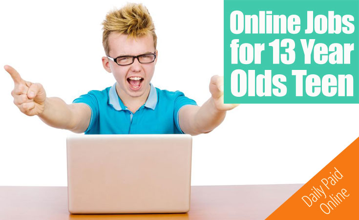 Online Jobs for 13 Year Olds