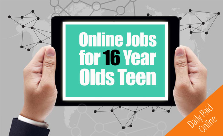 online jobs for 16 year olds